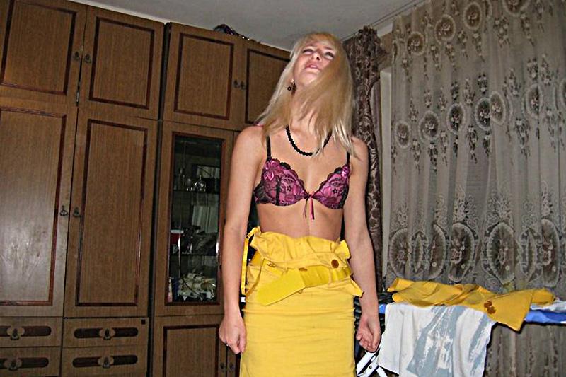 Amanda ragazza italo-russa in reggiseno di Mosca