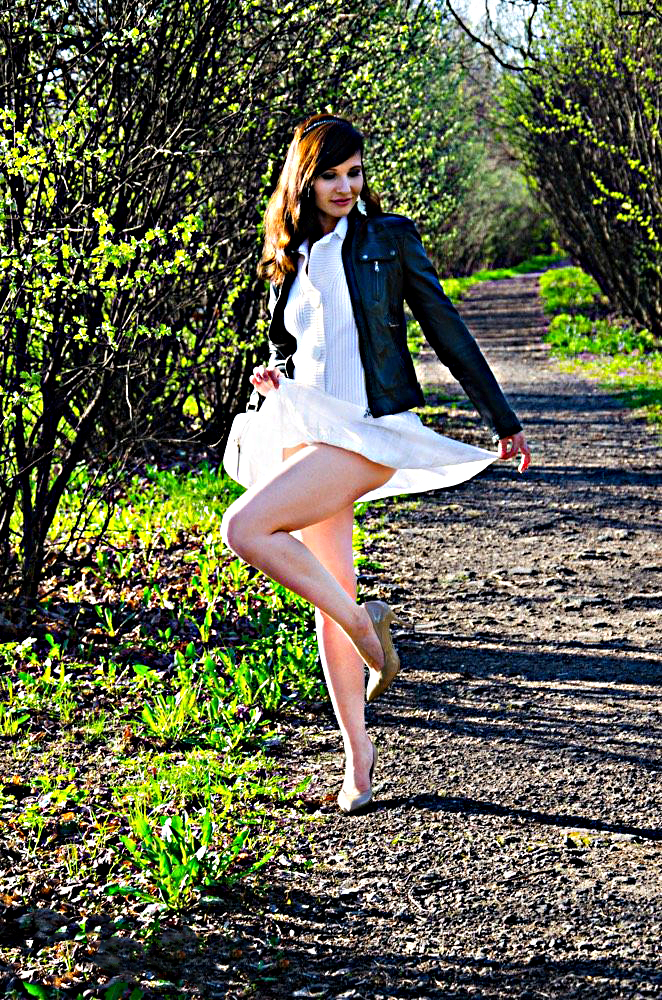 Jeny modella russa di Mosca in campagna